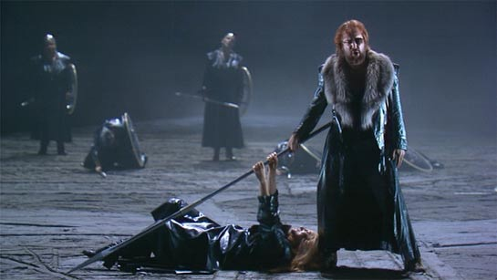 Anne Evans and John Tomlinson in Die Walküre