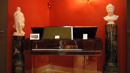 Wagner's specially designed Bechstein piano
