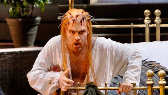 Detlef Roth as Amfortas in Stefan Herheim's production of Parsifal