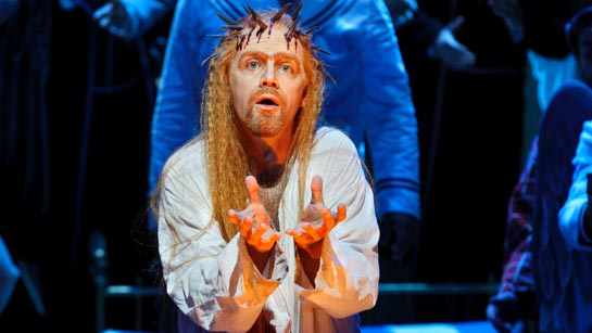 Detlef Roth as Amfortas in Stefan Herheim's production of Parsifal at the Bayreuth Festival